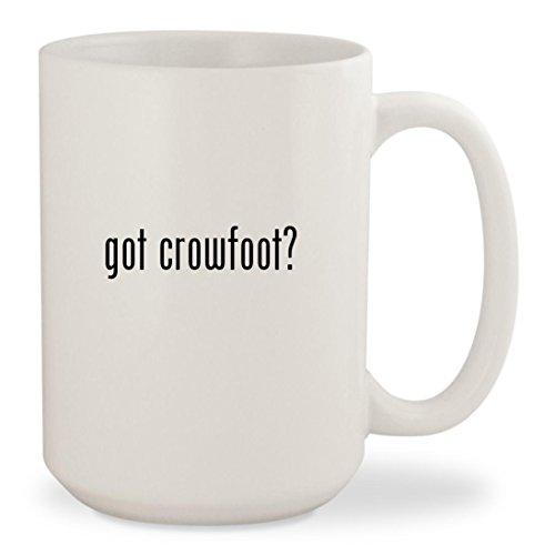 got crowfoot? - White 15oz Ceramic Coffee Mug Cup