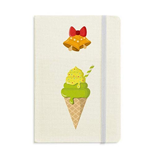- Green Matcha Ice Cream Cones Popsicles Notebook Journal Christmas Jingling Bell