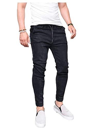 Nero Moda Battercake Uomo Vintage Slim Da Stretch Jeans Fit Comodo Pantaloni Jean Skinny Casual rSYFSOwq