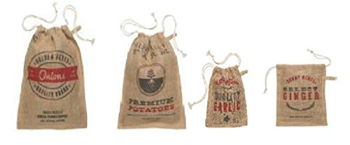 Vintage Burlap Potato Garlic Ginger