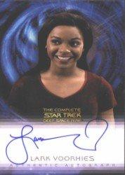 (Quotable Star Trek Deep Space Nine Lark Voorhies Autograph Card)