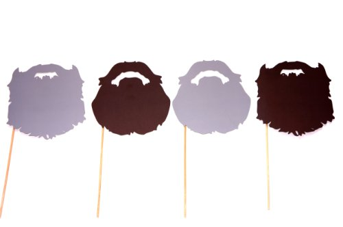 Duck Dynasty Beard Booth (Duck Dynasty Beards - Fully Assembled - Set of 4 Photo Booth Props on a)