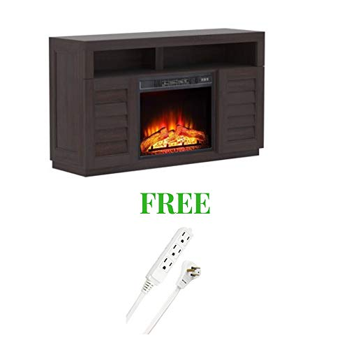 Better Homes and Gardens- Fireplace Media Console Television Stand Dark Oak