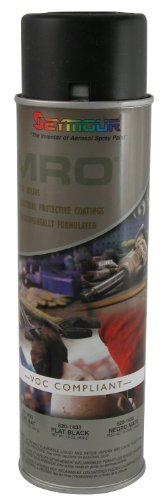 Seymour 620-1433 Industrial MRO High Solids Spray Paint, Flat Black from Seymour Paint