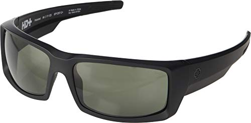 (Spy Optic Unisex General Matte Black Ansi Rx/Happy Gray/Green Polarized One Size)