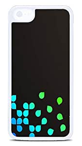 5C Cases, iPhone 5C Protective Case - Blue Leaves White Plastic Hard Case Cover Skin for Apple iPhone 5C