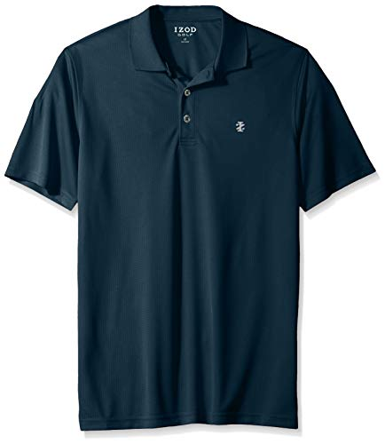 IZOD Men's Big and Tall Golf Champion Grid Short Sleeve Solid Polo, Legion Blue, 3X-Large
