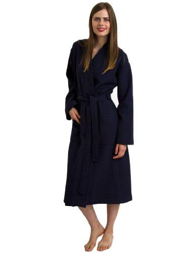 - TowelSelections Women's Robe, Kimono Waffle Spa Bathrobe X-Large/XX-Large Navy