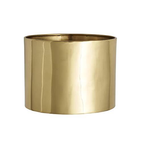 Solid Brass Planter Large Size Metallic Gold Modern Minimalist Modern Designer Decor Plant Pot Vase