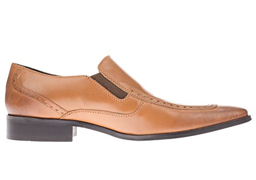 Gino Valentino Heren Leren Jurk Schoen Celio Slip-on Loafer Tan