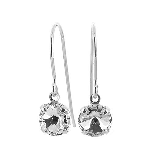 fac405f88 925 Sterling Silver fishhook earrings made with Diamond White crystal from  SWAROVSKI® London gift box. - Buy Online in Oman.   Jewelry Products in  Oman ...