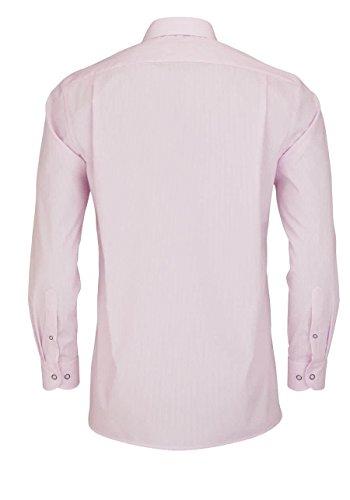 MARVELIS Modern Fit Hemd Langarm New Kent Kragen Streifen rosa