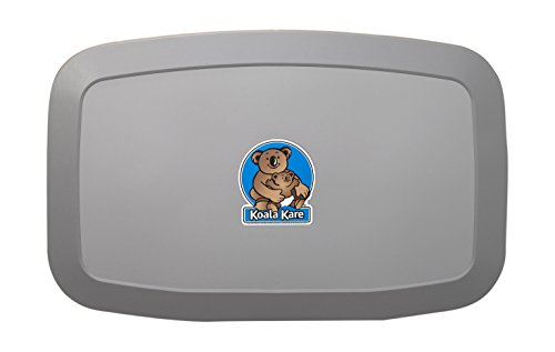 Changing Horizontal Station - Koala Kare KB200-01 Horizontal Wall Mounted Baby Changing Station, Grey