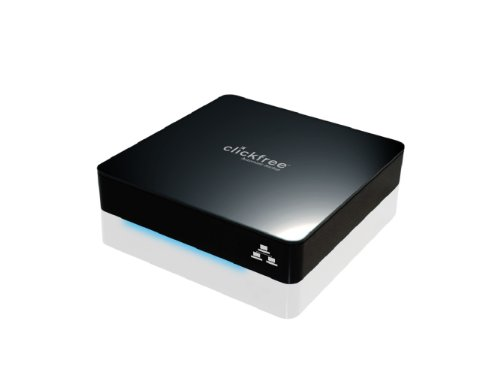 Clickfree Automatic Backup C2N 1 TB USB 2.0 Network Ready Desktop External Hard Drive 1037N (Piano Black)