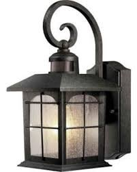Home Decorators Brimfield Aged Iron Motion-Sensing Outdoor Wall Lantern 592082 - Fixture Aged Iron