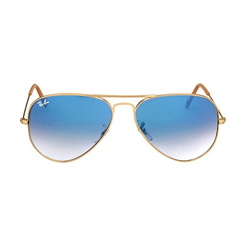Ray-Ban RB3025 Aviator Sunglasses Arista Gold w/Blue Gradient (001/3F) 3025 58mm - Ban Ray Blue Gold Gradient