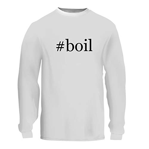 #Boil - A Nice Hashtag Men's Long Sleeve T-Shirt Shirt, White, Large