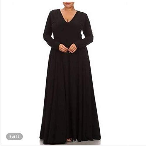 Kanggest.Vestido Largo Mujer Talla Grande Moda Bolsillo Top Falda ...