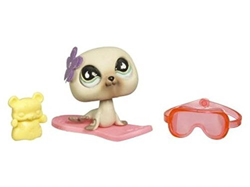 Littlest Pet Shop Seal - Littlest Pet Shop Pets On the Go Seal with Pink Sled