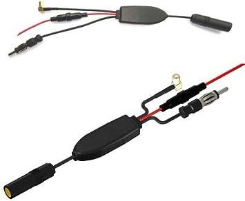 Eightwood DAB-Antenne Splitter DAB Splitter SMB Stecker auf DIN Stecker FM Digital Radio FM//AM-Antenne mit Signalverst/ärker RG174 Kabel f/ür Blaupunkt Pioneer Clarion Kenwood Alpine MEHRWEG