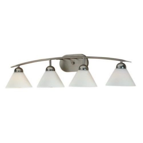 and 7-1/2-Inch Bath Bar with Two Lights with Opal Etched Glass, Polished Chrome Finish (Oakland Bath Fixture)