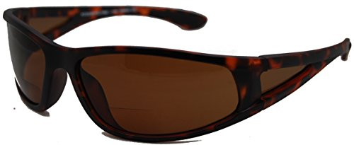 In Style Eyes Del Mar Polarized Wrap Nearly Invisible Line Bifocal Sunglass Readers/Matte Tortoise/2.50 ()