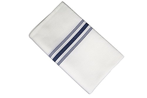 (RC ROYAL CREST by Sigmatex-Lanier Textiles Cloth Dinner Bistro Napkins Restaurant Quality 18 x 22 Inches 12 Pack (Navy Blue Stripes))