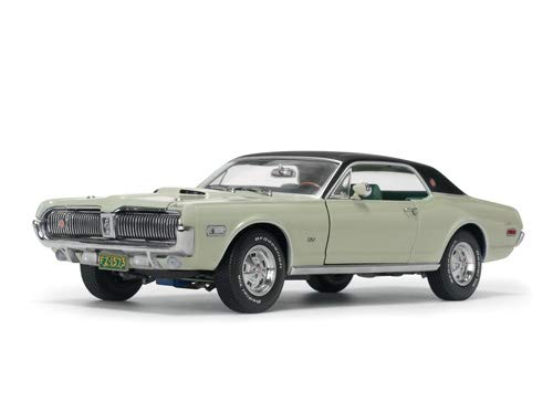 Cougars Green - 1968 Mercury Cougar XR7G Seafoam Green with Black Top 1/18 Diecast Model Car by SunStar 1573