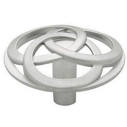 Satin Chrome Interlocking Circles Aluminum Liberty PN0763C-AL-C Cabinet Knob