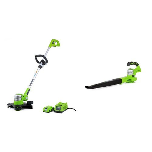 GreenWorks G-24 Cordless String Trimmer and Sweeper