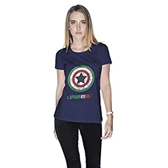Creo Captain Kuwait T-Shirt For Women - Xl, Navy