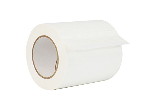 WOD FIL-835B/D Bi-Directional Fiberglass Reinforced Packing Filament Strapping Tape, High Adhesion Level, Tear Resistance, Hexayurt Tape (Available in Multiple Sizes): 6 in. x 60 yds. (Pack of 1) For Sale