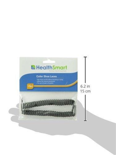0b8d84253a1f4 HealthSmart 640-9004-0001 Coiler Shoe Laces, White
