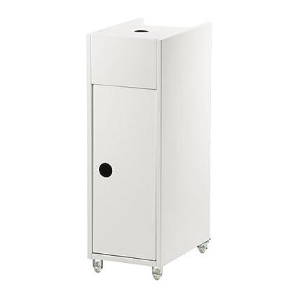 IKEA KLAMPEN - carrito, blanco