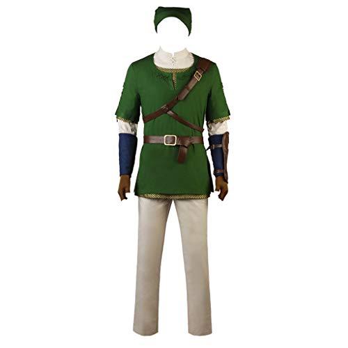 CospayDiy Men's Suit for The Legend of Zelda Twilight Princess Link Cosplay Costume XL Green ()