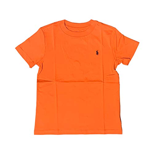 Ralph Lauren Boys T-Shirts Chest Pony Embroidered (2-20 Years) (Orange, 3T)