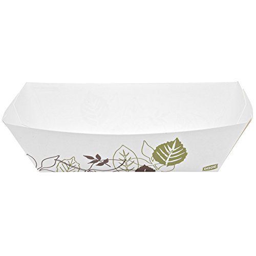 Dixie KL500PATH Georgia-Pacific Paper Food Tray, 9.310'' Width x 6.130'' Length x 2.090'' Height, 5 lb. (Pack of 500) by Dixie