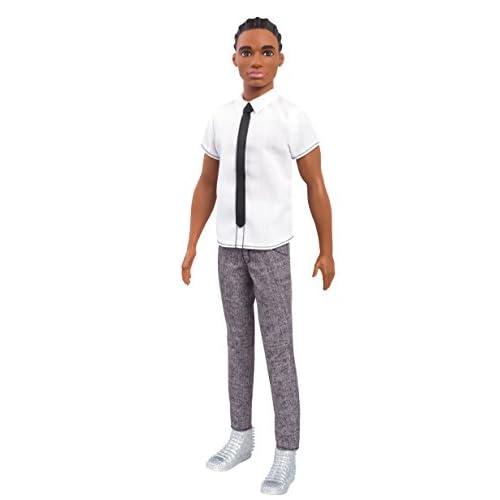 design intemporel regard détaillé Braderie Barbie Fashionistas poupée Mannequin Ken #10 Brun avec ...