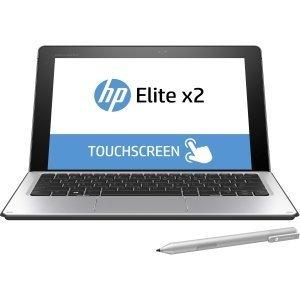 "HP Elite x2 1012 G1 Tablet with Keyboard - 12"" Core m7 6Y75 - 8 GB RAM - 256 GB SSD – Windows 10 Pro 64-bit (Certified Refurbished)"
