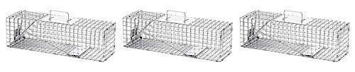 (Havahart Medium Professional Style One-Door Animal Trap for Rabbit, Skunk, Mink, and Squirrel - 1078 (Pack of 3))