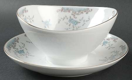 Imperial China designed by W Dalton Seville Gravy Boat with Underplate