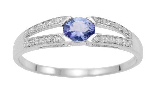 Alliance - A94R14242 - Femme - Or blanc (9 carats) 1.57 Gr - Tanzanite
