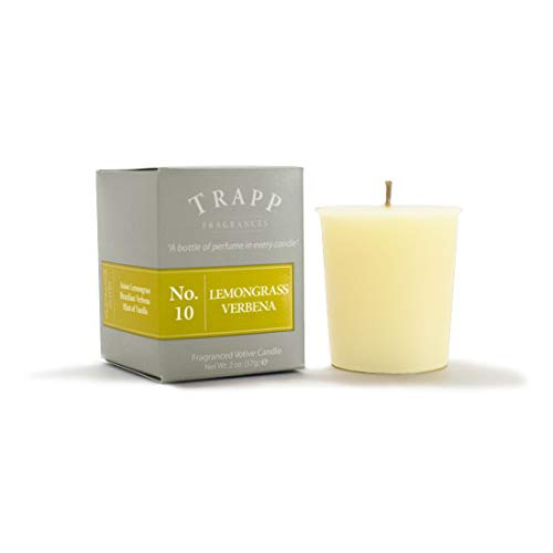 Trapp Signature Home Collection No. 10 Lemongrass Verbena 2 Ounce Votive - 2 Pack