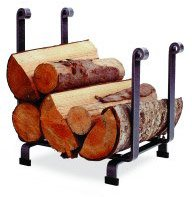(Enclume Hearth Log Rack, Hammered Steel)