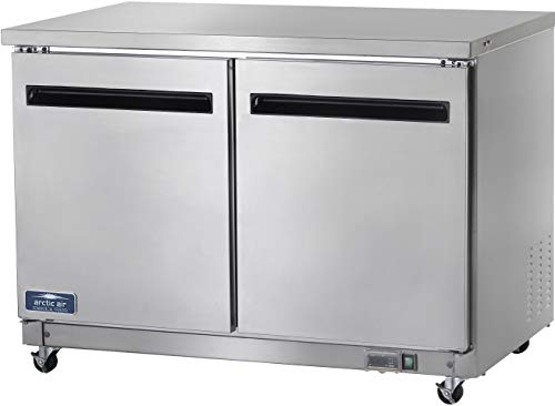 "Arctic Air AUC48F 48"" Undercounter Freezer - 12 cu. ft.,Silver"