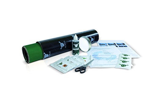 PlaPla®-Planenpflaster, selbstklebend als Set mit Schere und Cleaner in einer Hülse (Grün)
