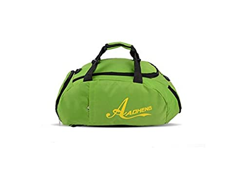 f8c8bc4250 Image Unavailable. Image not available for. Color: Hiking Nylon Large  Capacity Gym Bag Sports Holdall Travel Weekender Duffel ...