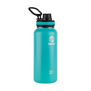 Takeya Originals Insulated Stainless Steel Water Bottle, 32 oz, Ocean