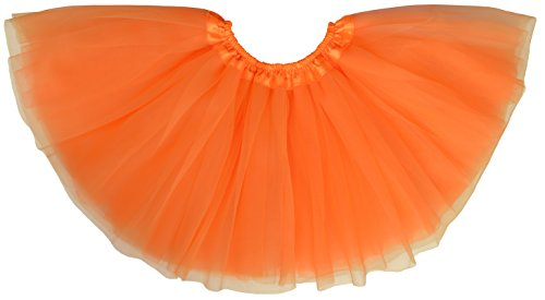 Dancina Adult Orange Tutu Halloween Costume Regular 2-18 -