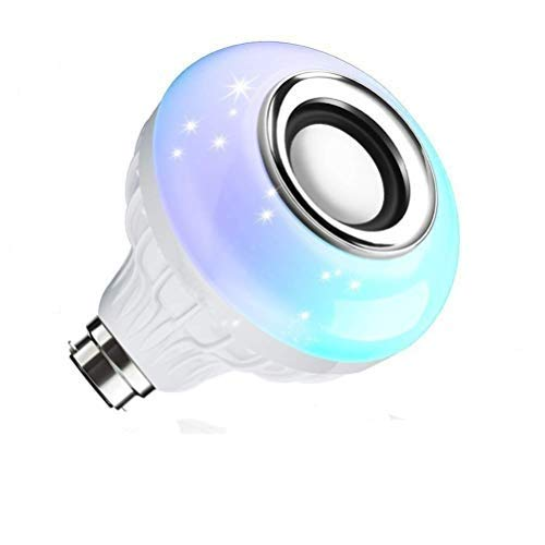 Gilary E27 and B22 LED Music Light Bulb with Bluetooth Speaker RGB Self Changing Color Lamp Built-in Audio Speakers for…